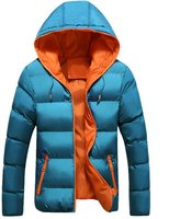 Susanny Men's Winter Fashion Thicken Outwear Down Warm Jacket Coat With Hood L