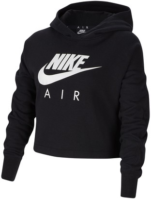 Nike Air Cotton Mix Cropped Hoodie, 6-16 Years