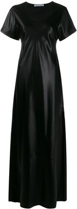 Alexander Wang coated flared maxi dress