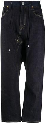Fumito Ganryu Drawstring Waist Jeans