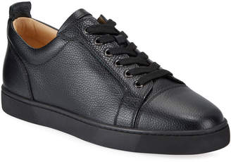 Christian Louboutin Men's Louis Junior Low-Top Red Sole Sneakers