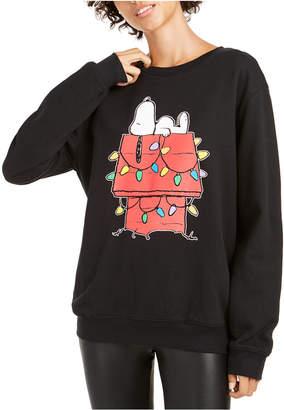 Peanuts Juniors' Holiday Snoopy Graphic Sweatshirt