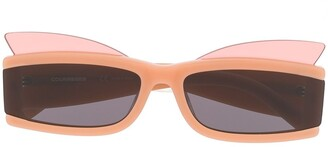 Courreges Rectangular Frame Sunglasses