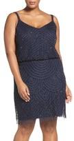 Adrianna Papell Beaded Blouson Tank Dress (Plus)