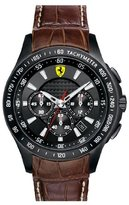 Ferrari Scuderia Chronograph Leather Strap Watch, 44mm