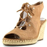 Franco Sarto Nataly Open Toe Suede Wedge Sandal.