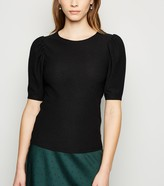New Look Crinkle Puff Sleeve T-Shirt