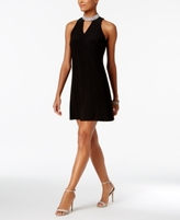 MSK Petite Embellished Keyhole Dress