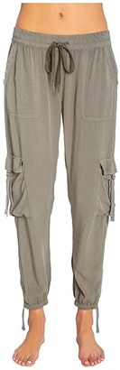 PJ Salvage Weekend Warrior Joggers (Olive) Women's Casual Pants