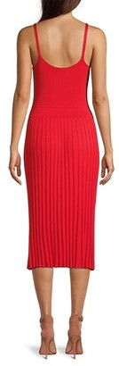 Milly Cami Top Pleated Midi Dress