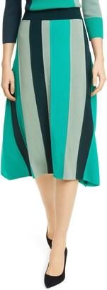 BOSS Faeve Stripe Knit Skirt