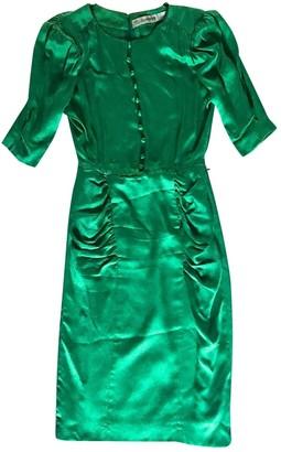 Jean Louis Scherrer Jean-louis Scherrer Green Silk Dress for Women Vintage