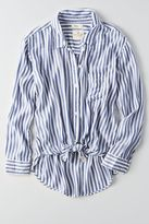 American Eagle Outfitters AE Tie Front Button Down Shirt