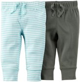 Carter's 2 Pack Pants (Baby) - Light Blue-9 Months