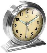 Infinity Instruments Metal Alarm Desktop Clock