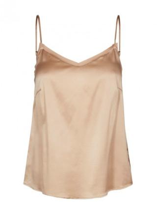 Ditte Mos Mosh - Silk Camel Singlet V-neck Camisole - XS - 8