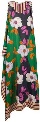 P.A.R.O.S.H. Floral-Print Silk Dress