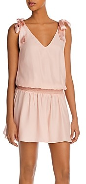 Amanda Uprichard Josephina Tie-Strap Mini Dress