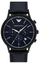 Emporio Armani Men's Chronograph Leather Strap Watch, 43Mm