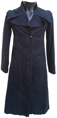 Marni Navy Cotton Trench Coat for Women