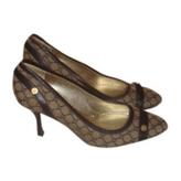 Celine Brown Cloth Heels