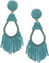 Sole Society Women's Teardrop Beaded Tassel Earrings Mauve One Size From