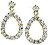 Giani Bernini Cubic Zirconia Open Teardrop Drop Earrings in 18k Gold-Plated Sterling Silver, Only at Macy's