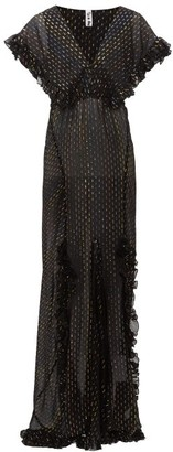 Rat & Boa - Georgia Metallic Fil-coupe Chiffon Dress - Black