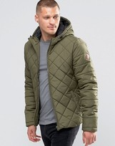 Blend of America Hooded Quilted Jacket Ivy Green