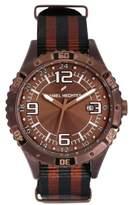 Daniel Hechter Men's Quartz Watch with Black Dial Analogue Display Quartz Textile DHH 002 5UU