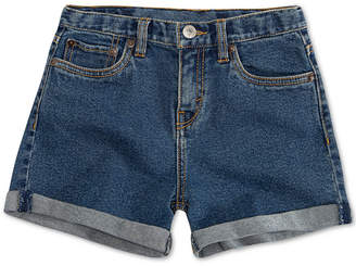 Levi's Big Girls Cuffed Hem Denim Shorts