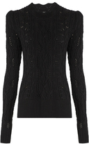 Isabel Marant Emi twisted-cable knit wool-blend sweater