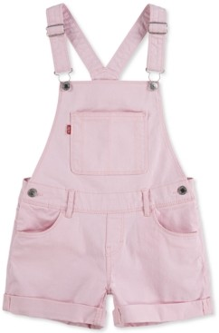 Levi's Toddler Girls Cotton Denim Shortall