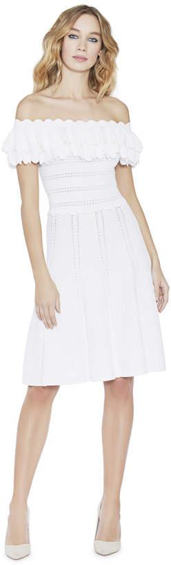 Alice + Olivia Janella Off Shoulder Ruffle Dress