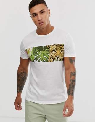 Brave Soul cheetah t-shirt-White