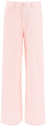 Ganni floral print palazzo jeans