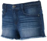 Mudd Juniors' FLX Stretch Braided Waist Shortie Shorts