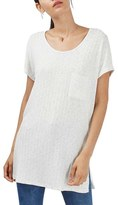 Topshop Rib Knit Pocket Tunic