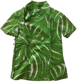 Miu Miu Green Cotton Top for Women