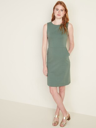 Old Navy Sleeveless Ponte-Knit Knee-Length Sheath Dress for Women
