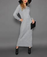 Aqe Fashion AQE Fashion Women's Casual Dresses GREY - Gray Midi Sweater Dress - Women