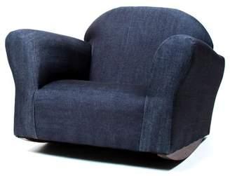 Santillan Denim Children's Cotton Rocking Chair Harriet Bee