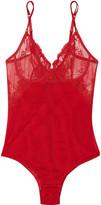 La Perla Primula embroidered stretch-tulle bodysuit