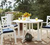 Pottery Barn Hampstead Painted Round Drop-Leaf Dining Table & Chair Set - White