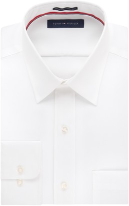Tommy Hilfiger Men's Non Iron Regular Fit Point Collar Dress Shirt