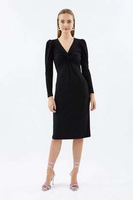 Coast Long Sleeve Twist Front Jersey Dress