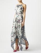 Monsoon Olivia Printed Hanky Hem Dress