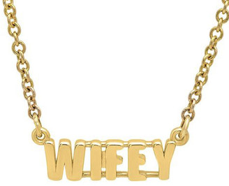 Established WIFEY Word Rose Gold Chain Necklace