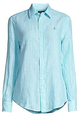 Polo Ralph Lauren Women's Striped Linen Button-Down Shirt
