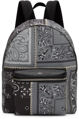 Amiri Grey Bandana Reconstruction Classic Backpack